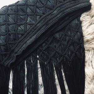 H&M Macrame Plaited Fringe Skirt